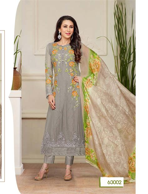 latest designer plazo suits thankar new designer grey straight plazo suit lowest price