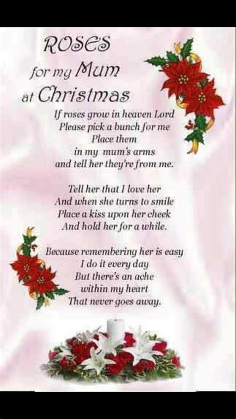 merry christmas  heaven mom   love   xo mom poems   mom