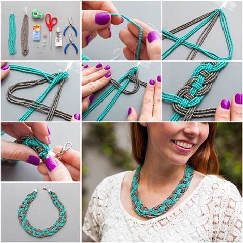 how to make cool jewelry at home wonderful diy unique woven bead necklace