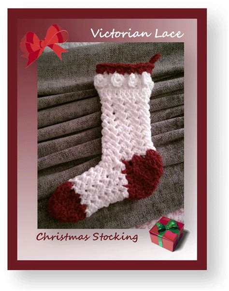 free pattern for victorian christmas stocking victorian lace christmas stocking allfreechristmascrafts com