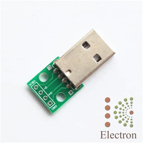 Soket Micro Usb Cewek Board Usb 01 1 2pcs set usb connector convert to pcb board solder 4 pin dip 2 54mm pitch general in