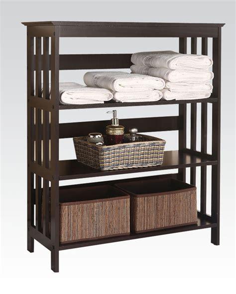 espresso bathroom furniture acme furniture espresso bathroom rack ac92100