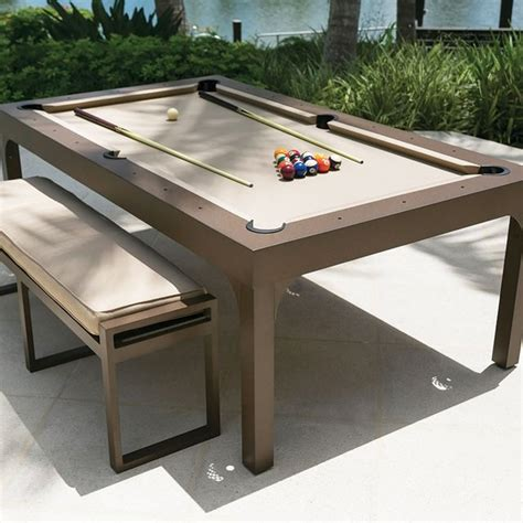 Dining Table And Pool Table Outdoor Pool Table Dining Table Upscout Gifts And Gear For