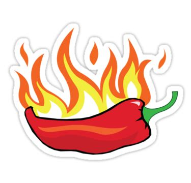 Chili Pepper Home Decor by Quot Chilli Quot Stickers By Borstal Redbubble