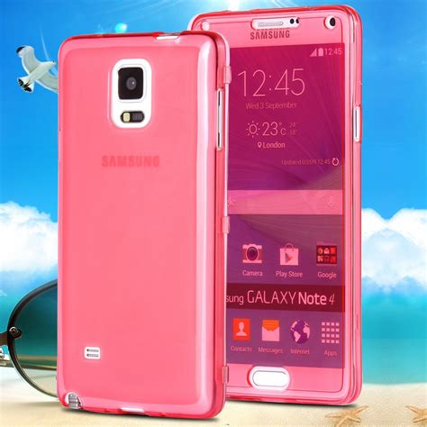 Ume Jelly Flip Cover Samsung Galaxy 2 New Original note 4 new fashion transparent flip cell phone