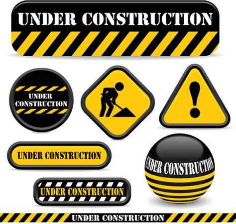 Baustellenschild Svg by Shiny Construction Warning Sign Vector Free Vector In Open