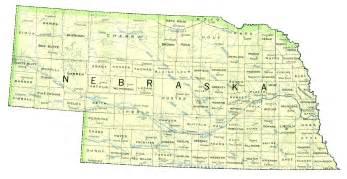 map of nebraska outravelling maps guide