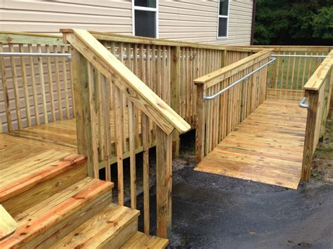 Building Handrails How To Add Ada Railing To A Wooden Access R