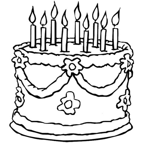 happy birthday cakes coloring pages free coloring pages of birthday cake 6 candles