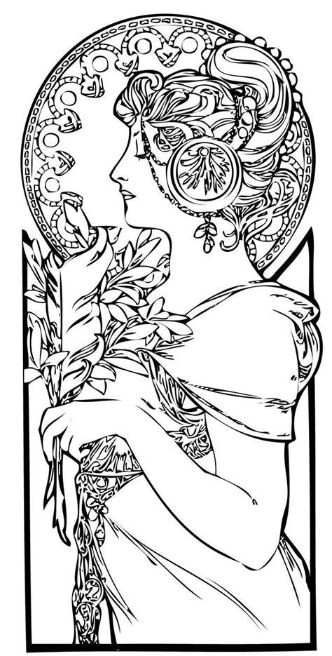 Line Art Nouveau By E Designer Deviantart Da Colorare Nouveau Coloring Pages