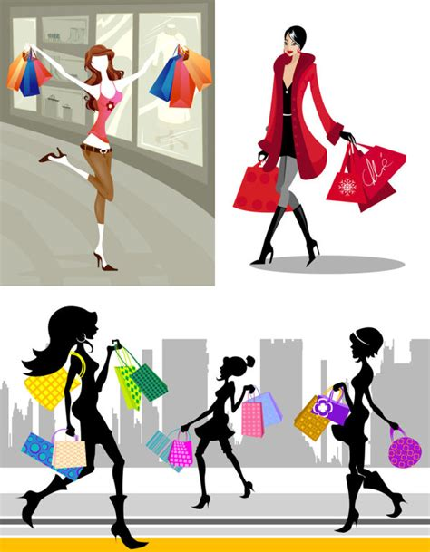 Shopping Mode by Mots Cl 233 S Shopping Ic 244 Nes Femmes Sacs 224 Dessin