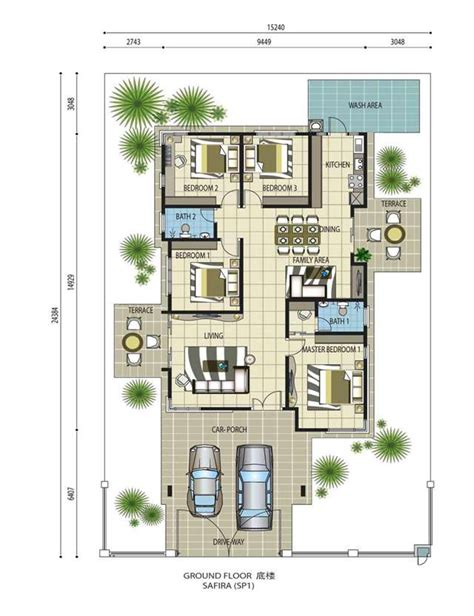 floor plan single storey bungalow single storey bungalow house design malaysia home design