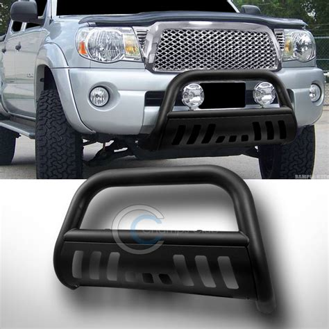 Mb 07mr Brush Flat 6 matte blk bull bar push bumper grill grille guard 97 04