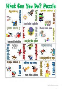 Activities To Do In What Can You Do Puzzle Worksheet Free Esl Printable