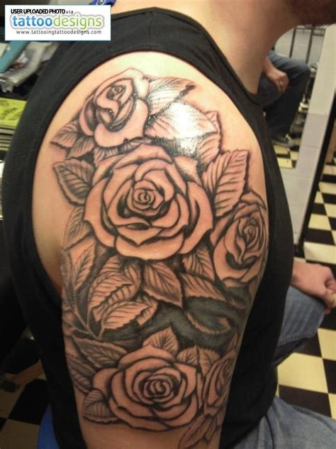 rose tattoo on guy three roses on shoulder search