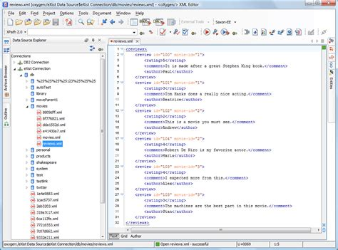 exist tutorial xml database exist support oxygen xml editor