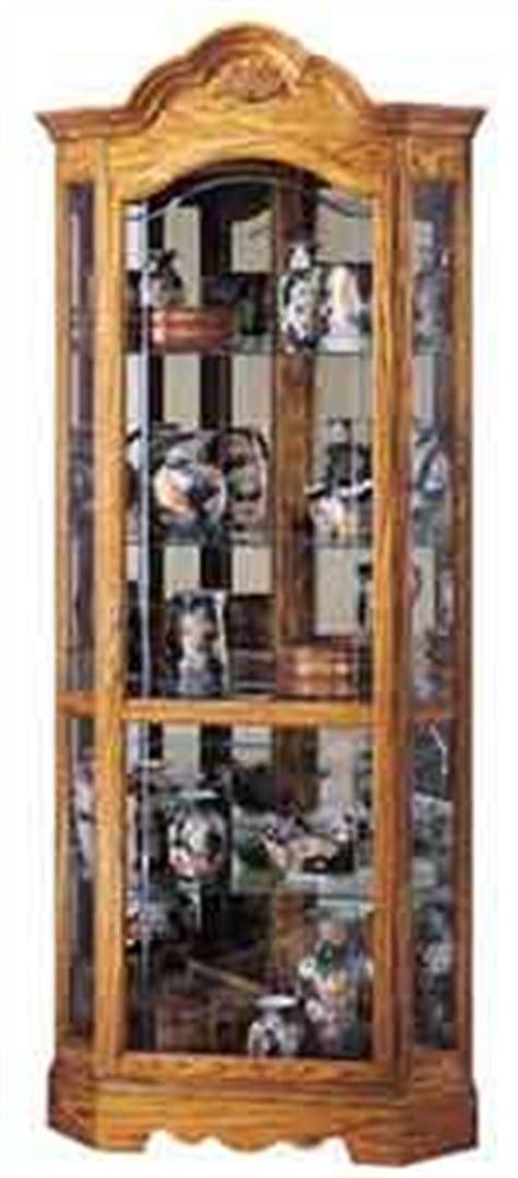 Murphy Corner Curio Cabinet Corner Curio Cabinets Made In Usa The Clock Depot