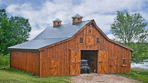 A Frame Kit Homes Traditional Wood Barn Ponderosa Country Barn Project