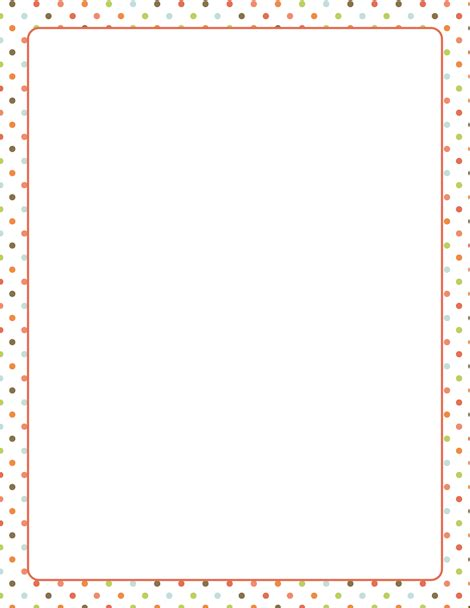 dot pattern border a polka dot border featuring dots in assorted colors free