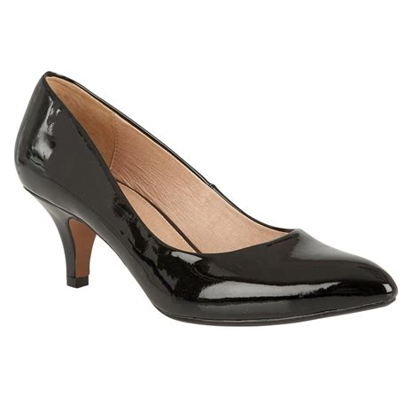 black patent clio pointed toe court shoes lotus shoes