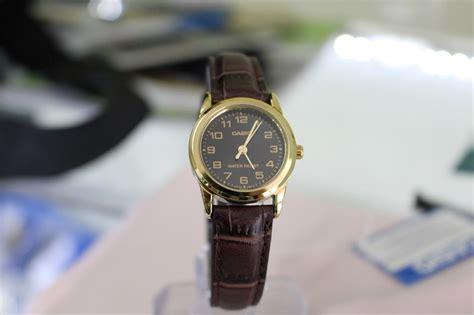 Jam Tangan Wanita Casio Kulit jam tangan wanita casio original ltp v001gl 1b kulit anti air water resistant elegan apa saja ada