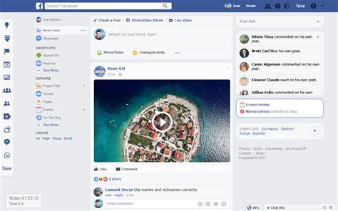layout change event fave new design for facebook viber online