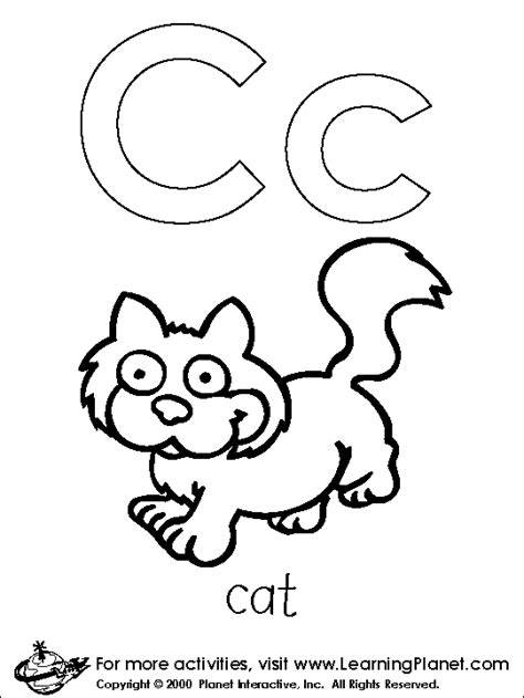 letters coloring page coloring letters c all kids network