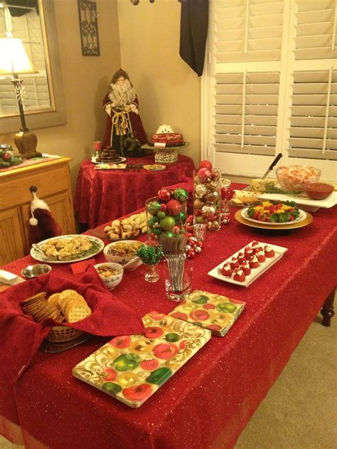 christmas party food table party ideas pinterest