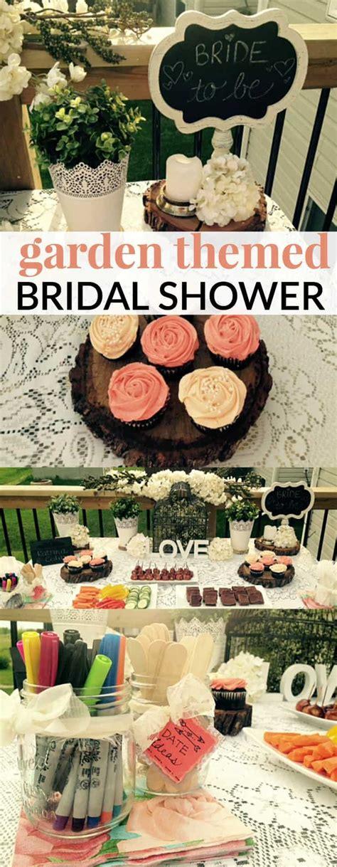 themed bridal shower garden themed bridal shower moment
