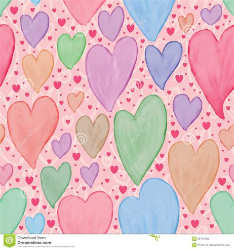 pastel graphic pattern paint love watercolor pastel seamless pattern stock vector