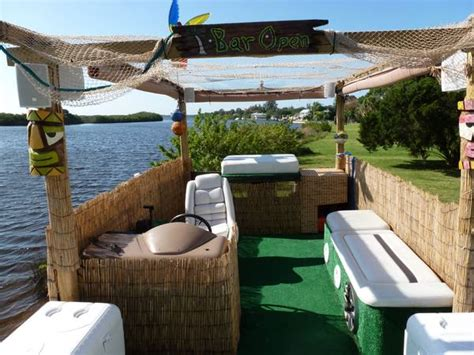 craigslist mobile pontoon boats cl find of the day floating tikibar w 70 hp the hull