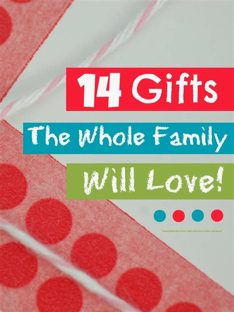 gifts for the family redirecting