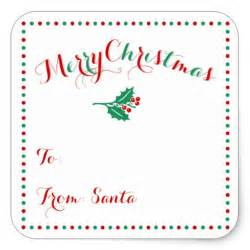 large personalized white christmas gift tags square