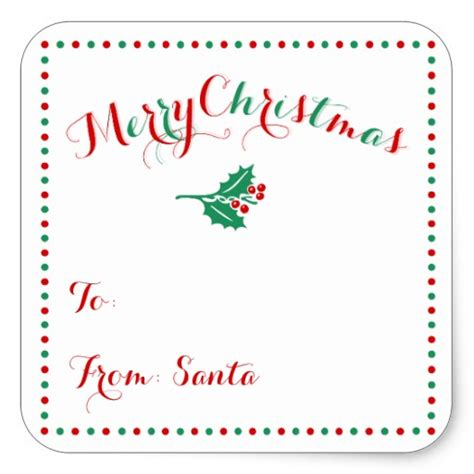 large printable xmas gift tags large personalized white christmas gift tags square