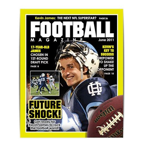 sports magazine template sports template football magazine cover 8x10 by ashedesign