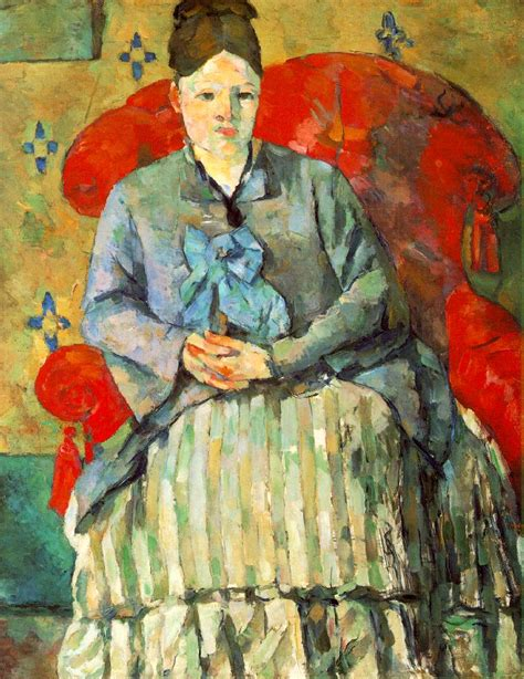 madame cezanne in a red armchair sightswithin com paul c 233 zanne page 2