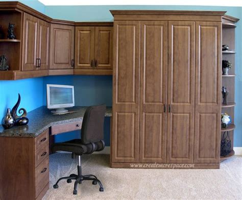 murphy bed with corner desk raised panel murphy bed with a corner desk design