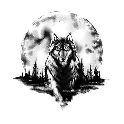 amazing wolf tattoo designs amazing wolf and moon design