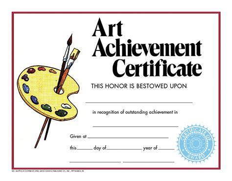 printable art achievement certificates hayes achievement certificate school specialty marketplace