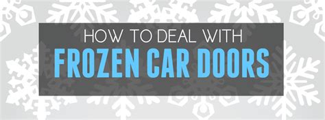 how to keep car doors from freezing shut in winter