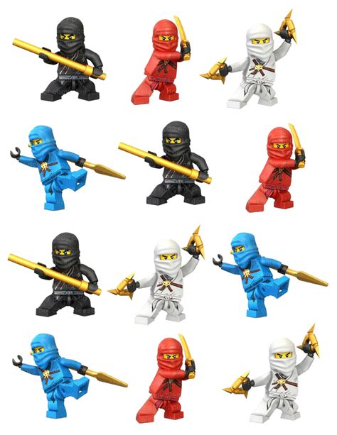 printable ninjago stickers instant dl ninjago stickers cupcake toppers 2 inch by