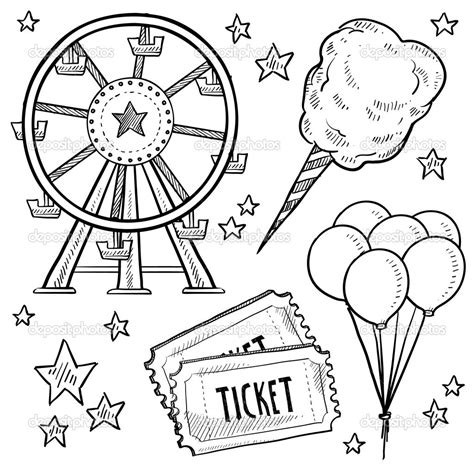 coloring pages of carnival games coloring pages for adults carnival coloring sheets in