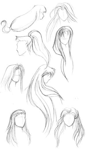 hairstyles for long hair drawing http www dibujando net tutoriales pelo avanzado