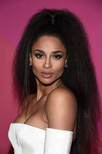 Ciara Top ciara stuns in blowout ponytail at 2017 billboard in