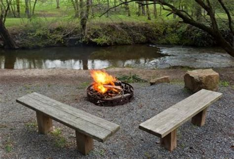 bench swing fire pit you can t help to notice quot bear feet retreat quot is a