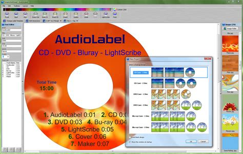 design with cover creator audiolabel cover maker software for cd dvd lightscribe