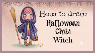 drawing tutorial draw color halloween chibi witch