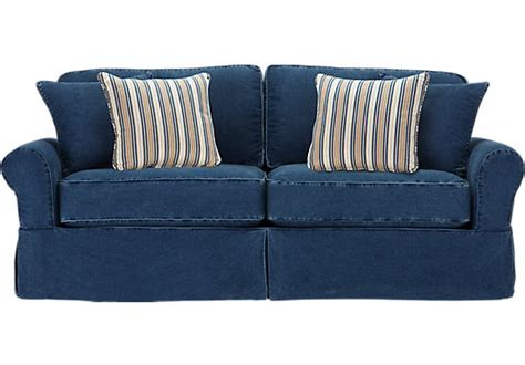 blue jean sofa cindy crawford home beachside blue denim sofa isofa hidden