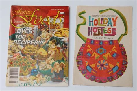 cookbook recipes for happy holidays books retro vintage cookbooks lot 60s 70s 80s vintage