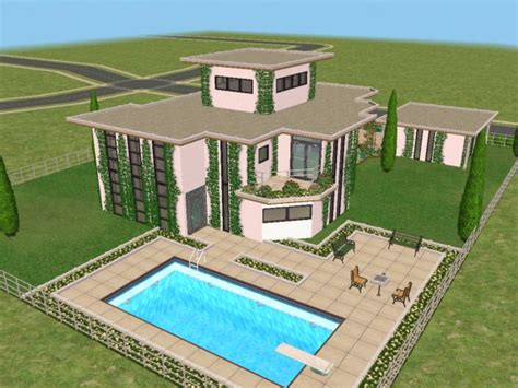 sims 2 home design kit mod the sims modeco house modern art deco no 2